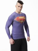 Cody Lundin® Hot Sale Men's Digital Printing Movie Theme Hero Exercise Fitness and Compression Tights Shirt Long Sleeved Sports T-shirt