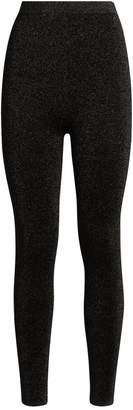 Sandro Lurex Knitted Leggings