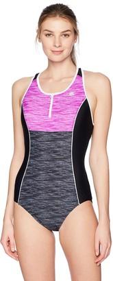 ZeroXposur Women's Code Scuba Zip One Piece Swimsuit