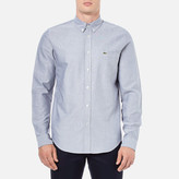 Lacoste Men's Oxford Long Sleeve Shirt Navy