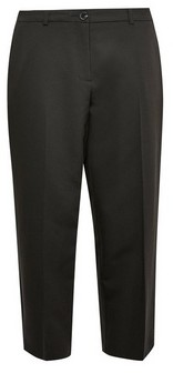 Dorothy Perkins Womens Dp Petite Black Elastic Back Ankle Grazer Trousers, Black