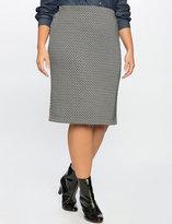 ELOQUII Plus Size Diamond Textured Knit Pencil Skirt