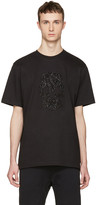 Markus Lupfer Black Beaded Skull T-shirt