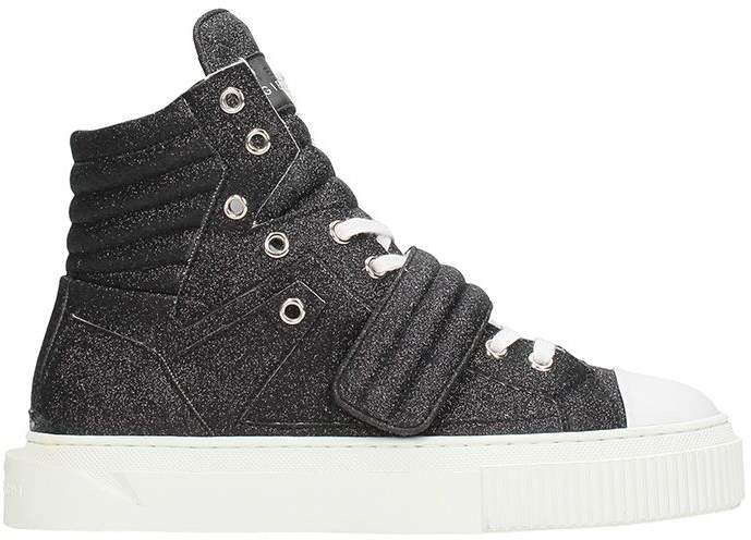 Gienchi Hypnos Black Glitter Sneakers