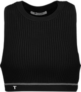 Alexander Wang Ribbed stretch-knit bra top