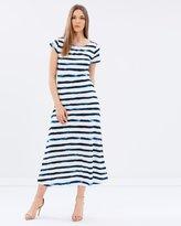Polo Ralph Lauren Striped Cap Sleeve Maxi Dress