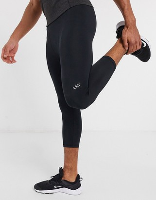 ASOS 4505 icon 3/4 length workout tights with quick dry in black