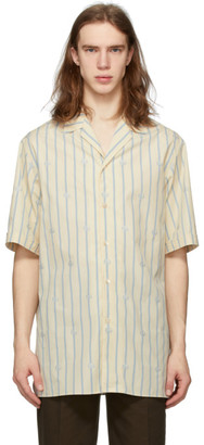 Gucci Off-White G Stripe Short Sleeve Shirt