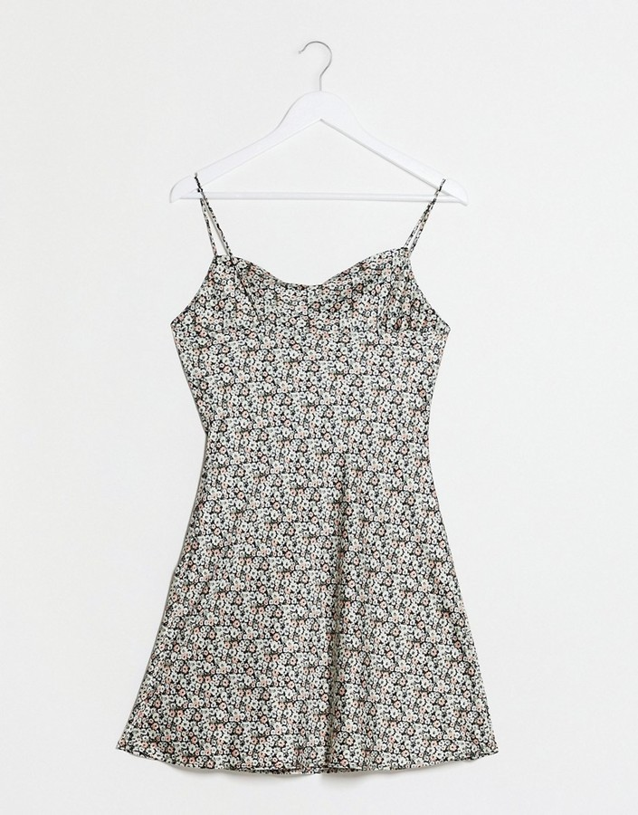 Thumbnail for your product : Abercrombie & Fitch cami dress in blue smudge print