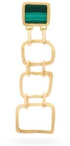 Roxy Orit Elhanati Delight 18kt Gold & Malachite Single Earring - Womens - Gold