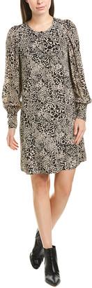 Rebecca Taylor Leopard Silk Shift Dress