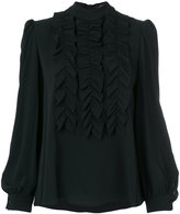 Odeeh frill front blouse