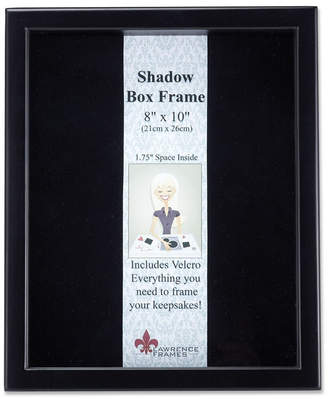 """Lawrence Frames 790080 Black Wood Shadow Box Picture Frame - 8"""" x 10"""""""