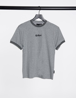Kickers boyfriend t-shirt with logo front in marl