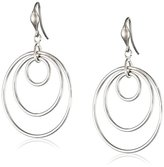 "Zina Sterling Silver ""Wired"" Loose Concentric Circle Drop Earrings"