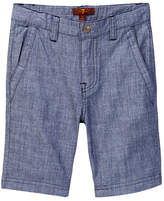 7 For All Mankind Chambray Short (Little Girls & Big Girls)