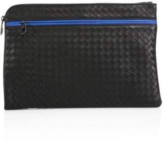 Bottega Veneta Colorblock Leather Document Case