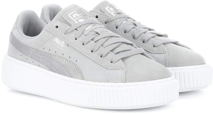 online retailer d3f69 bcf64 Platform Safari suede sneakers