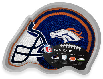Bed Bath & Beyond Fan Cake NFL Silicone Cake Pan - Denver Broncos