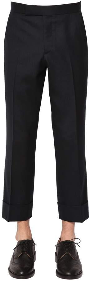 Thom Browne 21cm Flannel Wool Pants W/ Back Strap