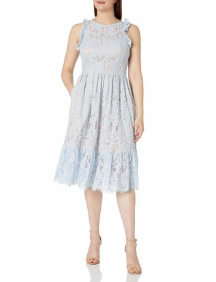 Eliza J Women's Lace Ruffle Midi Dress