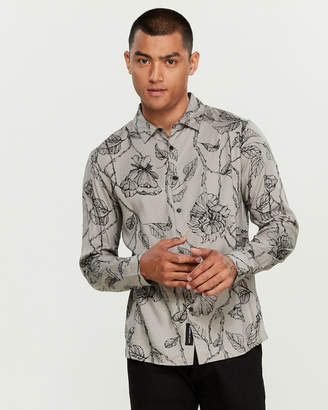 NATIVE YOUTH Intricate Floral Shirt