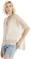 Sole Society Sheer Cardigan with Pockets
