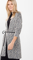 Esprit OUTLET multi-coloured chunky knit cardigan with belt