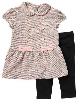 Little Me Pocket Dress & Leggings - 2-Piece Set (Baby Girls)
