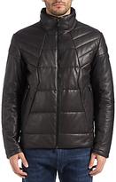 HUGO BOSS BOSS Green Jamba Leather Jacket, Black