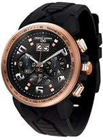 Jorg Gray Men's Quartz Watch with Black Dial Chronograph Display and Black Rubber Strap JG5600-22