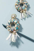 Anthropologie Oceana Fringed Drop Earrings