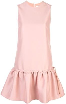 Victoria Victoria Beckham tie waist flounce dress