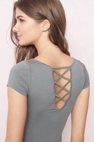 Garage Deep Back Lace-Up Ballerina Tee