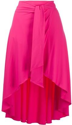 Fisico Tie-Wait Flared Skirt