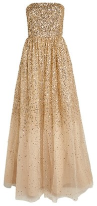 Alice + Olivia Alice+Olivia Daisy Sequin-Embellished Gown