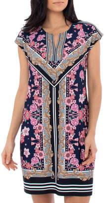 Jump Scarf Print Jersey Dress