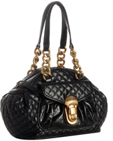 black quilted leather 'Happy Daisy' bag