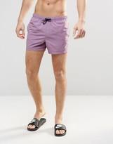 Asos Swim Shorts In Purple Short Length