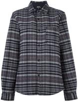 A.P.C. checked shirt - women - Cotton/Polyamide/Virgin Wool - S