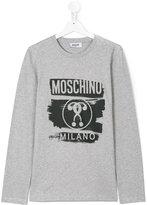 Moschino Kids logo print long sleeve T-shirt