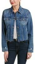 Joe's Jeans Women's Cropped Embellished Boyfriend Jacket