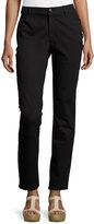 Lafayette 148 New York Slim-Fit Jacquard Denim Pants, Black