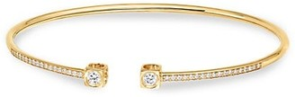Dinh Van Le Cube 18K Yellow Gold & Diamond Pave Medium Bangle Bracelet