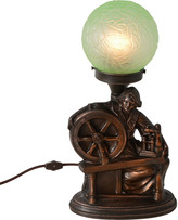 Rejuvenation Cast Metal Spinning Wheel Radio Lamp C1930