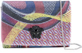 Versace energy wave crystal Palazzo clutch bag - women - Nappa Leather - One Size