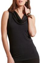 Lauren Ralph Lauren Jersey Cowl-Neck Top