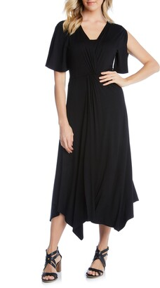 Karen Kane Asymmetrical Twist Front Dress