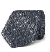 Canali 8cm Polka-dot Silk-jacquard Tie