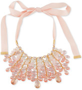 Carolee Gold-Tone Beaded Ribbon Statement Necklace
